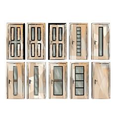 set of door2 vector image vector image
