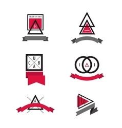 set of Minimal Geometric Modern Insignias vector image