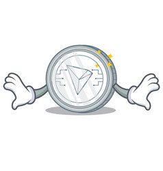 Shock tron coin character cartoon vector