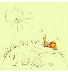 snail card vector image