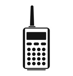 Talkie radio icon simple style vector