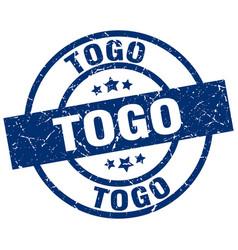 Togo blue round grunge stamp vector