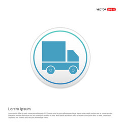 Truck icon - white circle button vector