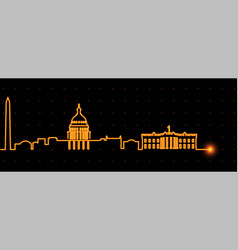 Washington light streak skyline vector