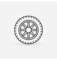 Wheel linear icon vector image