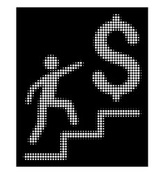 white halftone business stairs icon vector image