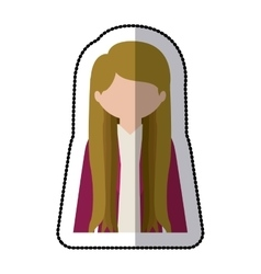 Woman profile pictogram vector