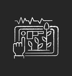 Yield prediction chalk white icon on black vector