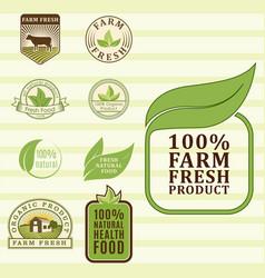Bio farm organic eco healthy food templates and vector