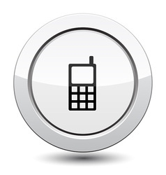 Button with Phone Icon vector image vector image