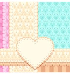delicate wedding card vector image