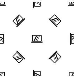 laptop pattern seamless black vector image vector image