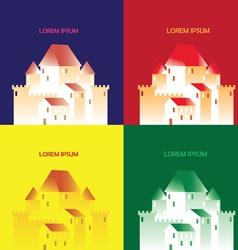 pop art castle vector image