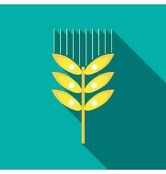 Wheat ear icon in flat style vector image vector image