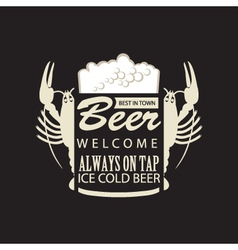 beer on tap vector image