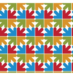Bright abstract seamless pattern with arrows vector image vector image