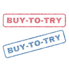 buy-to-try textile stamps vector image vector image