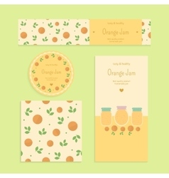 Homemade orange jam set vector