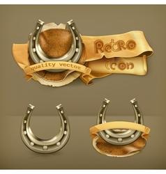 Lucky horseshoe icon vector image vector image