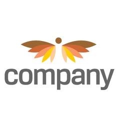 angel wings logo for heaven vector image