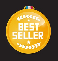 Best Seller Gold Medal vector image