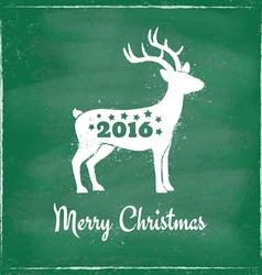 deer chalk 2016 green vector image vector image