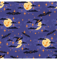 Halloween seamless pattern with moon vector image vector image