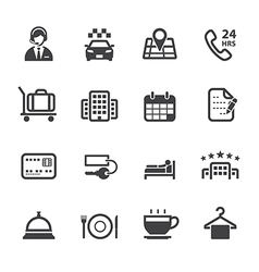 Hotel and Hotel Services Icons vector image vector image