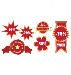 set of promo stickers vector image