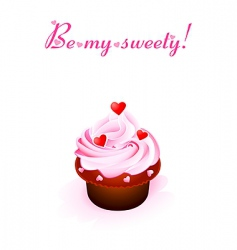 sweet valentine card vector image vector image