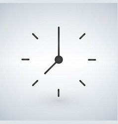 black minimalistic clock design isolated on white vector image