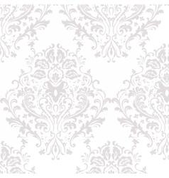 Damask luxury ornament pattern vector image