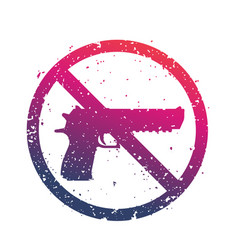 no guns sign with powerful pistol no firearms vector image