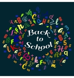 abstract back to school background with colorful vector image