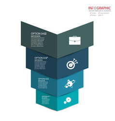 Abstract element infographics 4 option design for vector