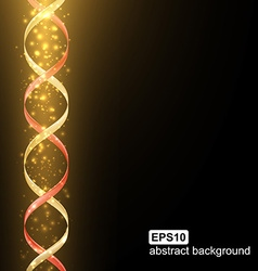 Abstract light spiral futuristic background vector image