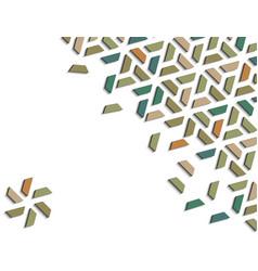 Arabic 3d isometric color geometric mosaic vector