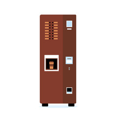 automatic coffee or hot beverage vending machine vector image