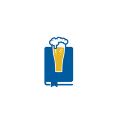 beer book logo icon design vector image