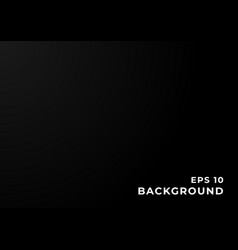 Black and gray gradient background with copy space vector