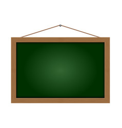 black board hang on white background vector image