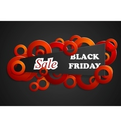 Black friday abstract background vector image