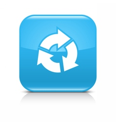 Blue arrow refresh repeat reload rotation icon vector image