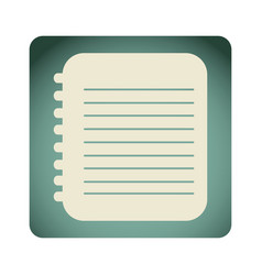 Blue emblem notebook paper icon vector