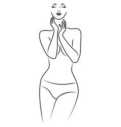 Body a charming and sensual woman vector