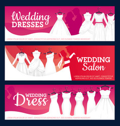 bridal gowns boutique salon wedding dresses vector image