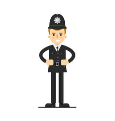british policeman in uniform vector image