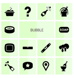 Bubble icons vector