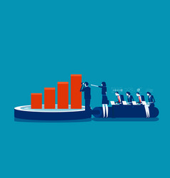 business and data analysis concept business vector image