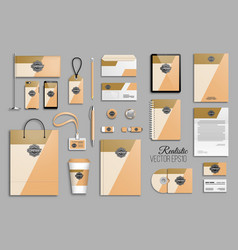 Business stationery mock-up with logo corporate vector